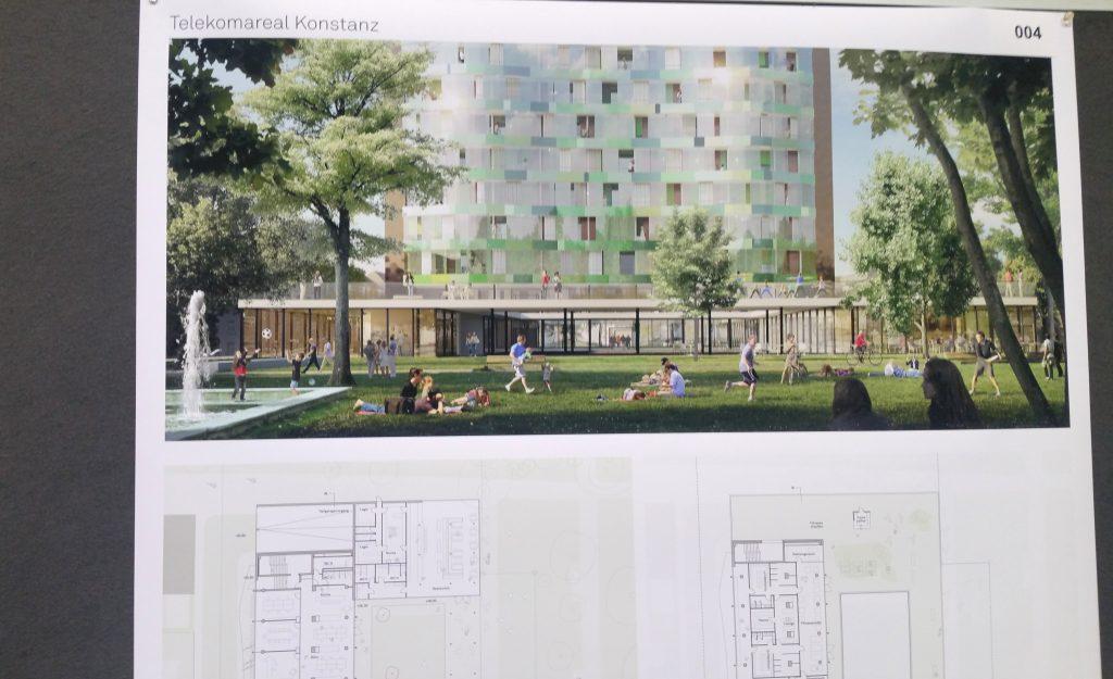 Bauplan für früheres Telekom-Hochhaus