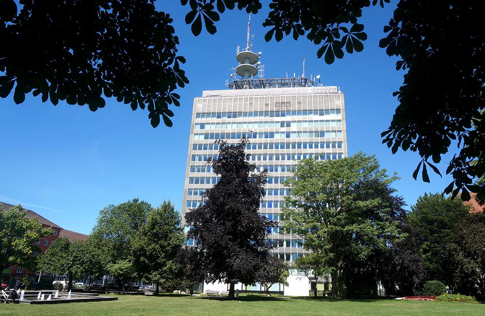 Das Telekom-Hochhaus in Konstanz